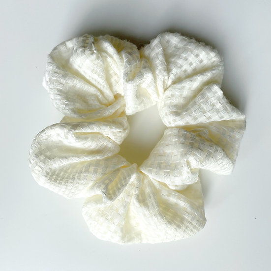 COTTON CHECK SCRUNCHIE