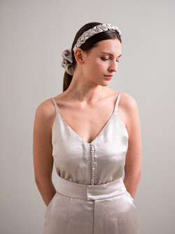 SILVER CAMISOLE TOP