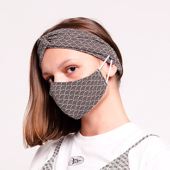 2 PACK GENKI MASK WITH KAMINOKE HEADBAND