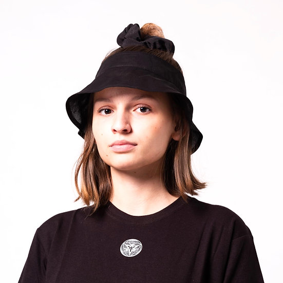 SHEER VISORED BUCKED HAT