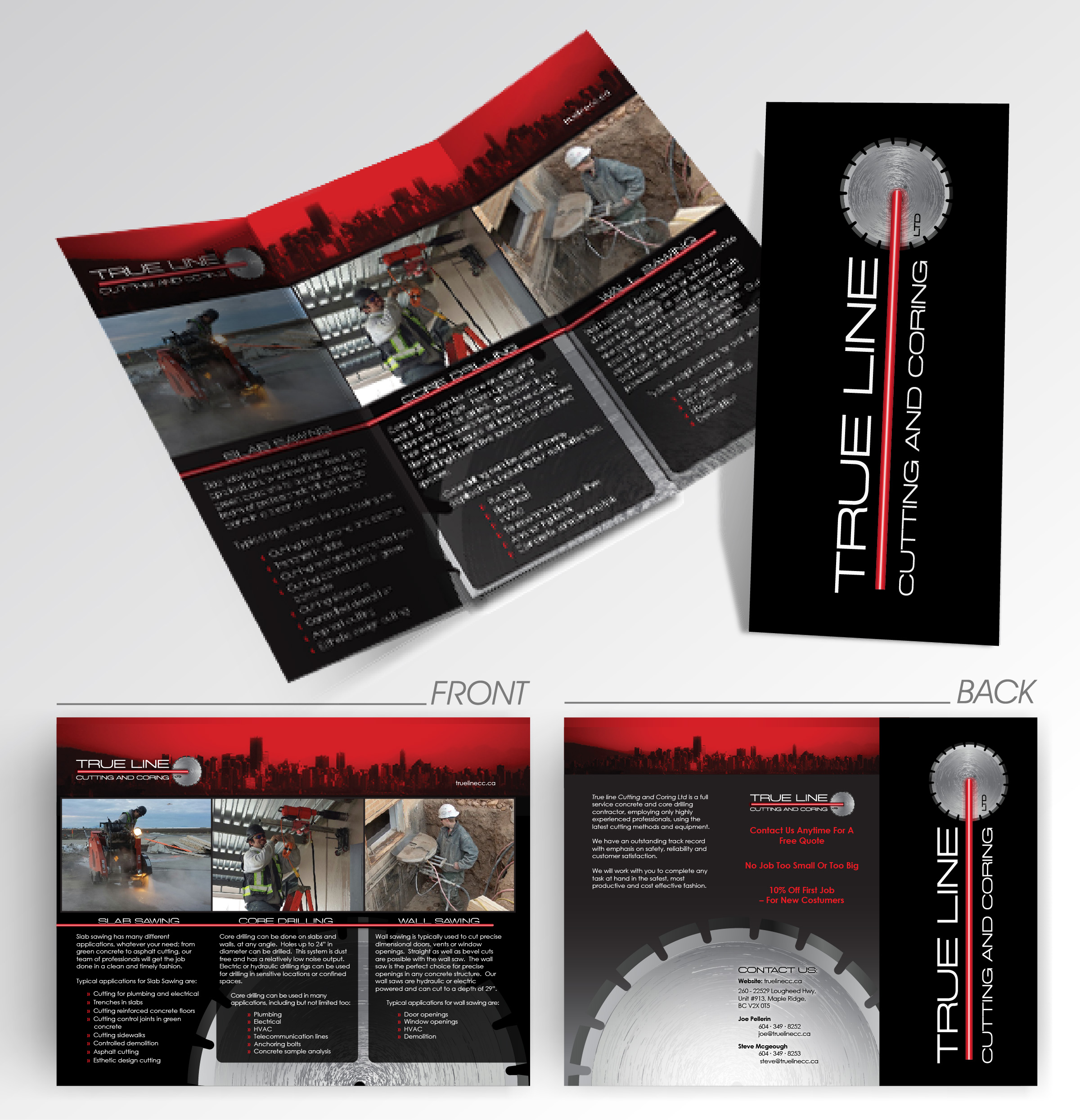 Trueline Cutting & Coring Branding