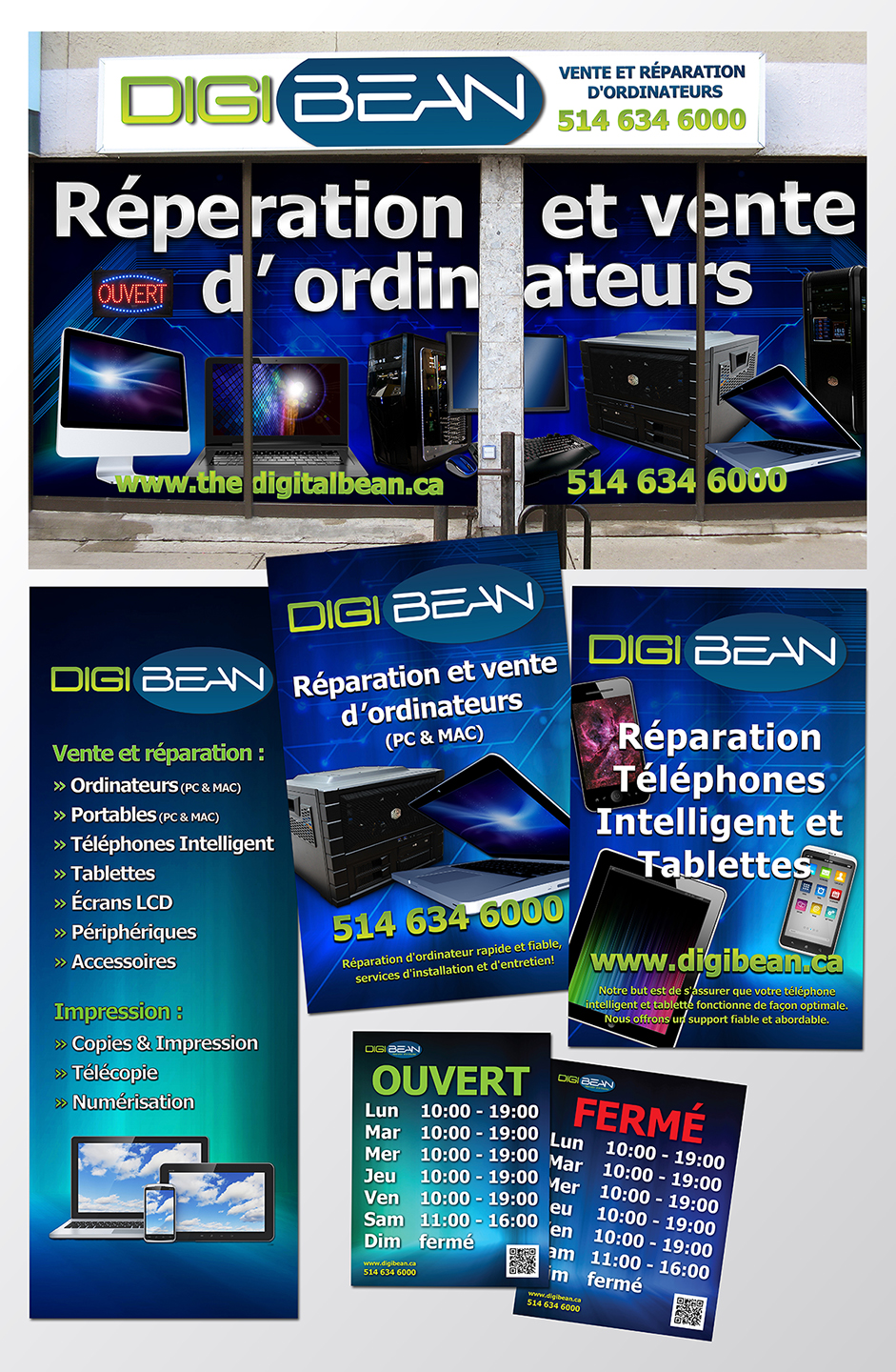DigiBean Store Front & Posters