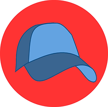 Blue Hat red background.bmp