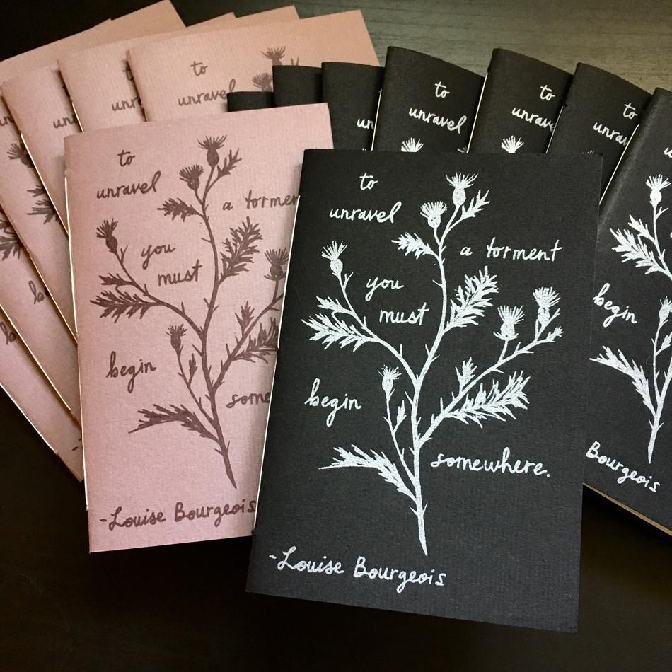 L.B. empty journal books