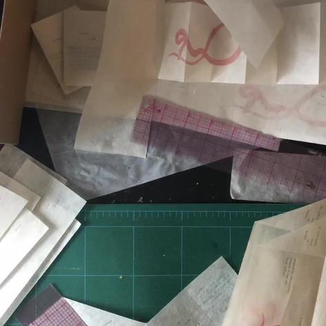Folding letterpress accordion books
