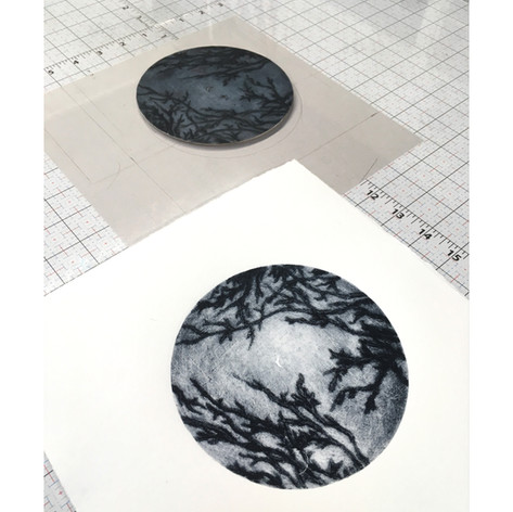 Collagraph plate and print