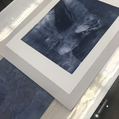 Collagraph plate and print off the press