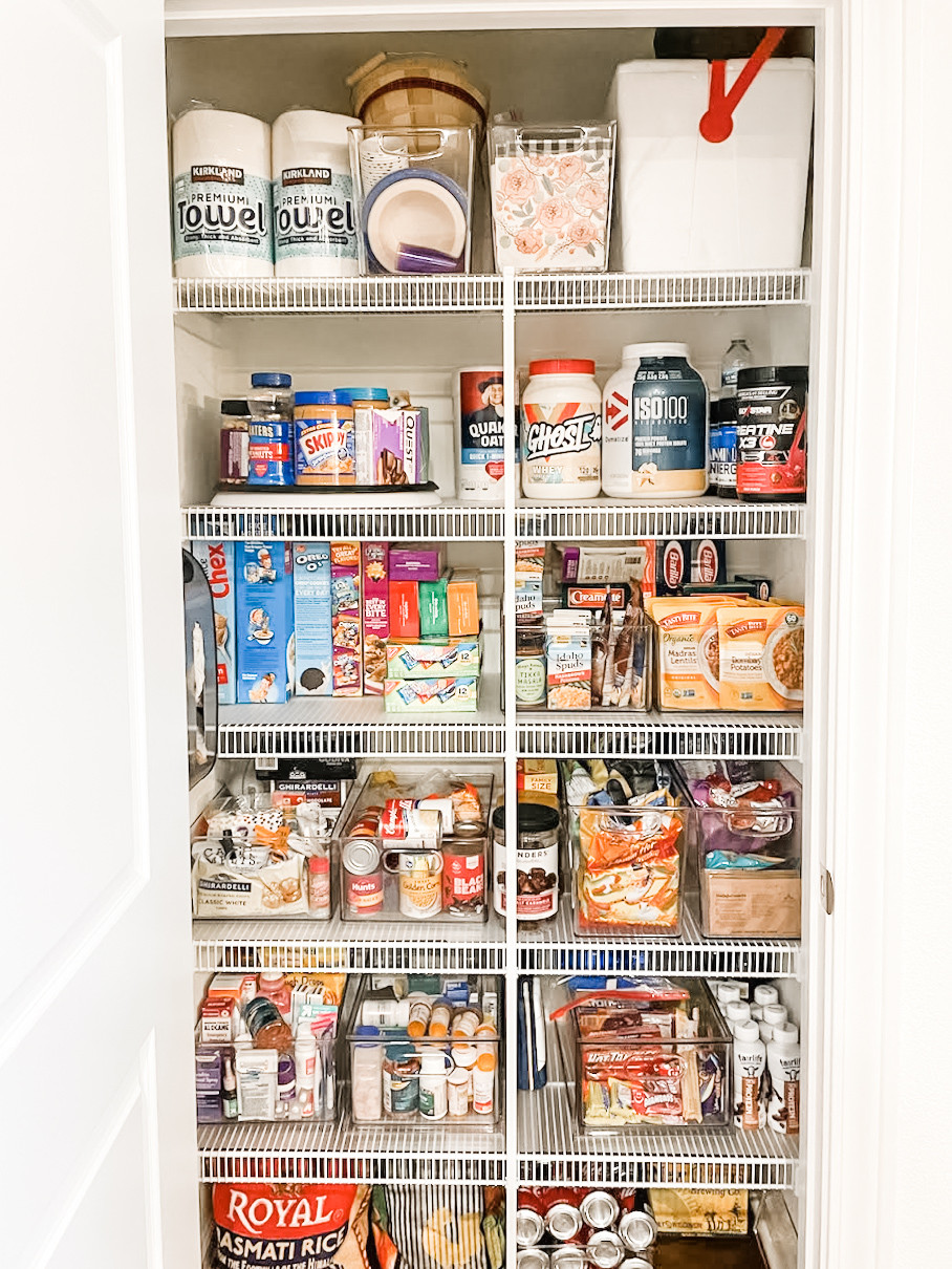 After: Organized pantry!