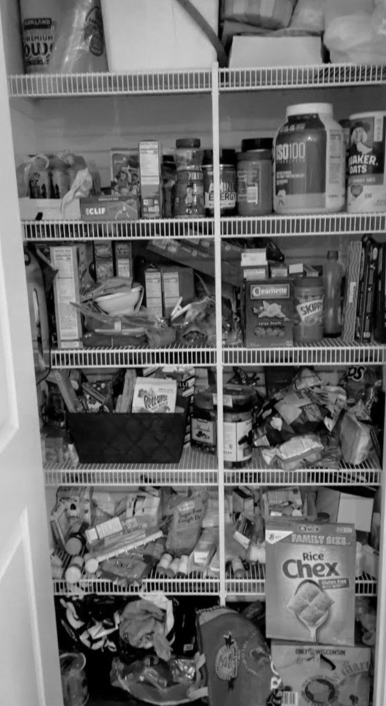 Before: Pantry without a system