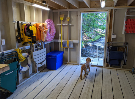 Organized Boathouse for Easy Lake Living