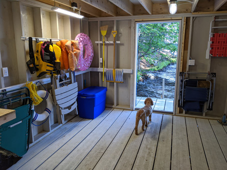 Organized Boathouse for Easy Lake Living