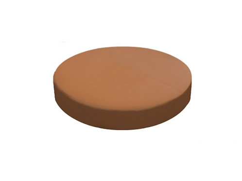 "Saddle Ottoman - Light Brown [QTY 2, 6""L]"