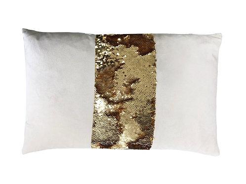 "Sequined Stripe Lumbar Pillow [QTY 2, 12"" x 20""]"