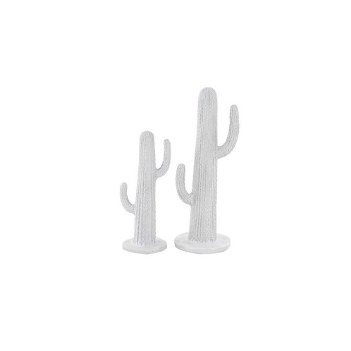 "White Ceramic Cacti [QTY12, Small - 12""H x 5""W x 5""D  Large - 17""H x 6""W x 6""D]"