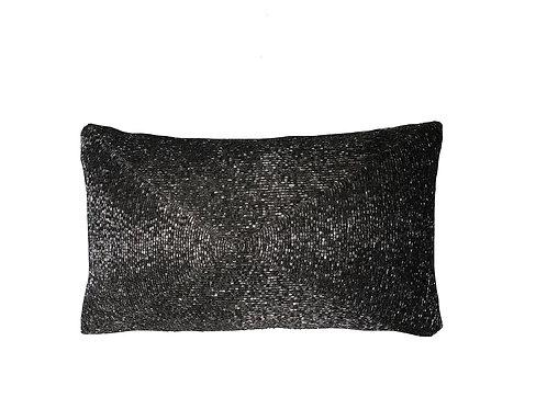 """Grey Crystal Lumbar Pillow [QTY 1, 8"""" x 14""""]"""