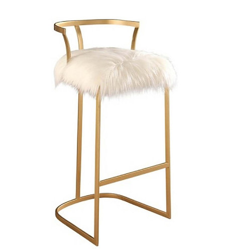 "Faux Fur Bar Stool [QTY 28, 38""H x 18""W x 19""D]"