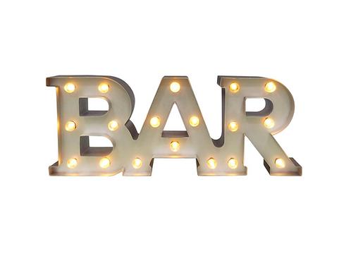 """Light Up Bar Sign[QTY3, 6""""H x 15.5""""W x 2.38""""D]"""