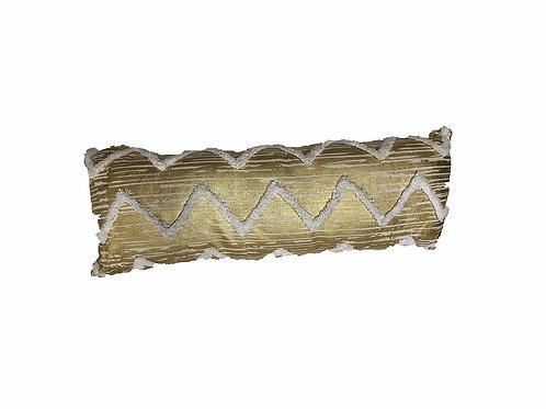 """Gold Lamé Lumbar Pillow [QTY 2, 34"""" x 12""""]"""