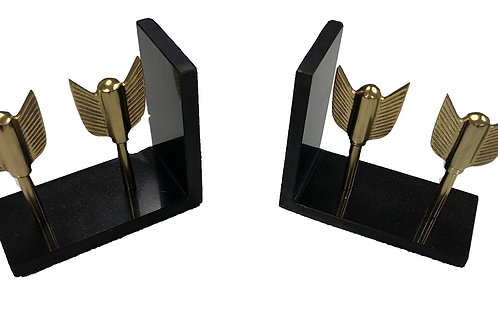 """Arrow Book Ends [QTY2,SET OF 2, 6""""]"""