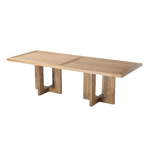 "Oversized Light Ashwood Dining Table [QTY20, 106""L x 42""W x 30""H]"