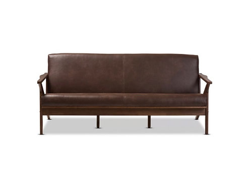"Faux Leather Modern Sofa [QTY 3, 30""H x 73""W x 34""D]"