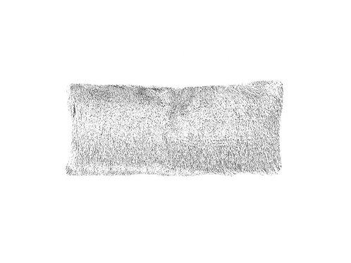 "White Shag Lumbar Pillow [QTY 1, 24"" x 13""]"