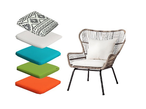 Tribal Wicker Chair [QTY 20, See photo for cushion color options]