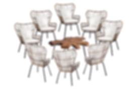 Wicker Chairs - Live Edge Coffe Table.jp