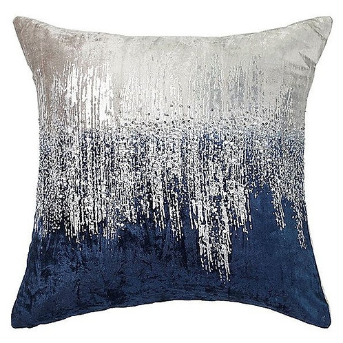 "Navy and Grey Burst Pillow  [QTY 4, 20"" x 20""]"