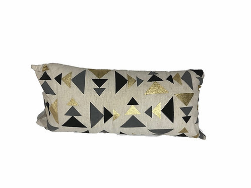 "Natural Tribal Triangle Lumbar Pillow [QTY 6, 20"" x 8""]"