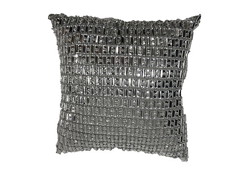 "Silver Crystal Pillow [QTY 2, 10"" x 10""]"