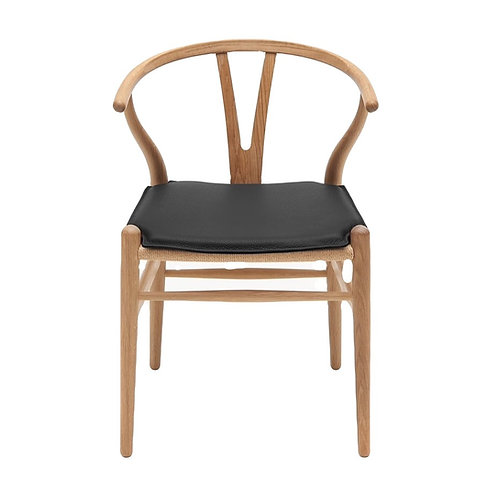 Natural Wishbone Dining Chair - Black Cushion [QTY 210]
