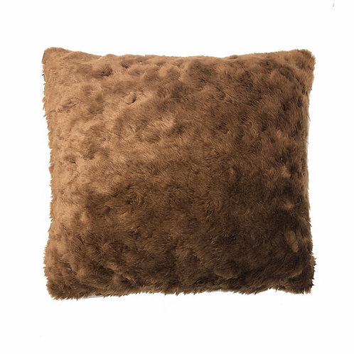 "Brown Fur Pillow [QTY 1, 16"" x 16""]"