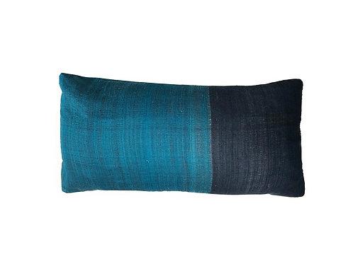 """Navy and Teal Lumbar Pillow [QTY 5, 20"""" x 10""""]"""