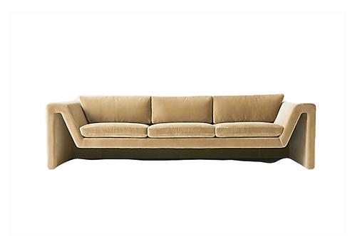 """Beige Camel Sofa [QTY 2, 103""""W x36""""D x 25.5""""H]"""