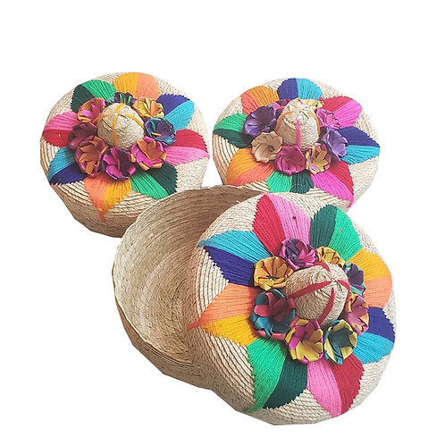 "Fiesta Flower Baskets [QTY1, Med-7""D x 4.5""T Large-8""D x 5""T]"