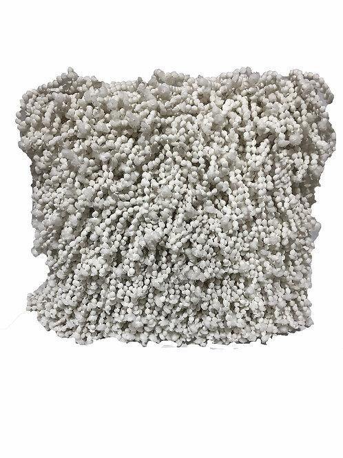 """White Boho Pillow [QTY 2, 18"""" x 18""""]"""