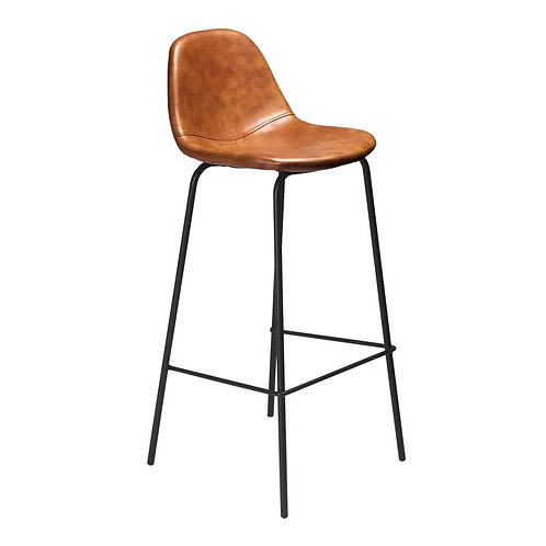 "Leather Bar Stool - Light Brown [QTY100, 39""H x 14.25""W x 16""D]"