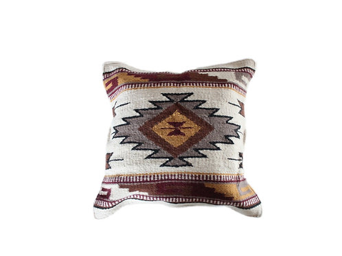Southwestern Pillow (Beige and Turquoise)