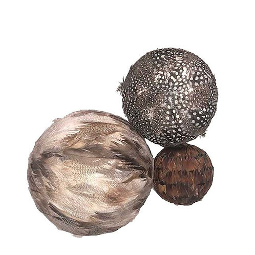Decorative Feather Balls [QTY4, Set of 5]