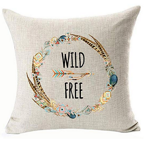 "Wild & Free Pillow [QTY 4, 18"" x 18""]"