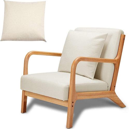 "Natural Wood Accent Chair [QTY 2, 26""L x 30""W x 29""H]"