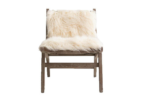 Ivory Fur Accent Chair [QTY 20]