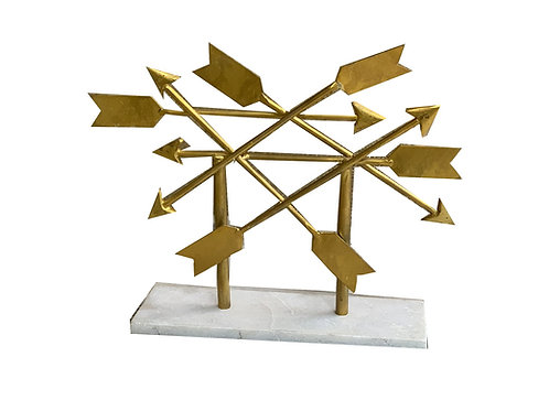 Marble & Brass Arrow Decor [QTY1]