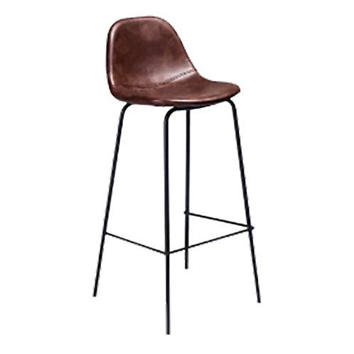 "Leather Bar Stool - Dark Brown [QTY100, 39""H x 14.25""W x 16""D]"