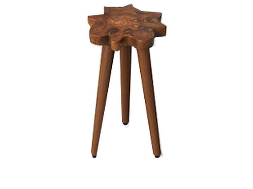 """Dark Wood Live Edge Table [QTY 4,18""""Hx 12""""W x 12""""L]"""