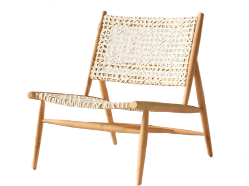 """Woven Leather Accent Chair - White [QTY 4, 31""""H x 26""""W x 32""""D]"""