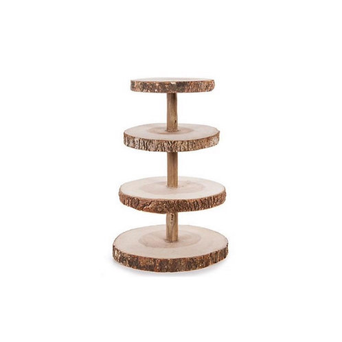 Rustic Wood Tier Stand [QTY2]