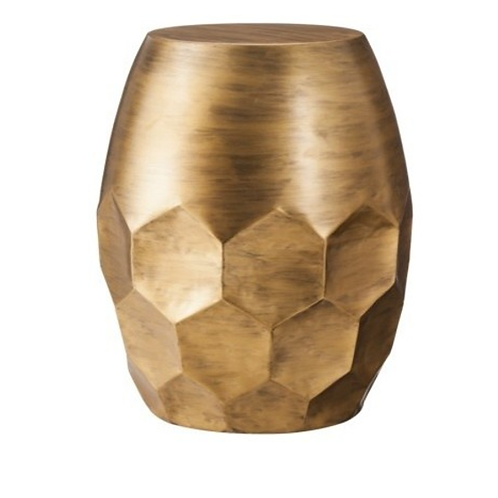 "Gold Honeycomb Table [QTY 4, 22""H x 17""W x 17""D]"