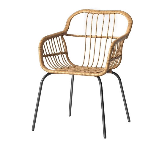 """Rattan Dining Chair [QTY 36, 33""""H x 24""""W x 27""""D, + $5 with cushion]"""